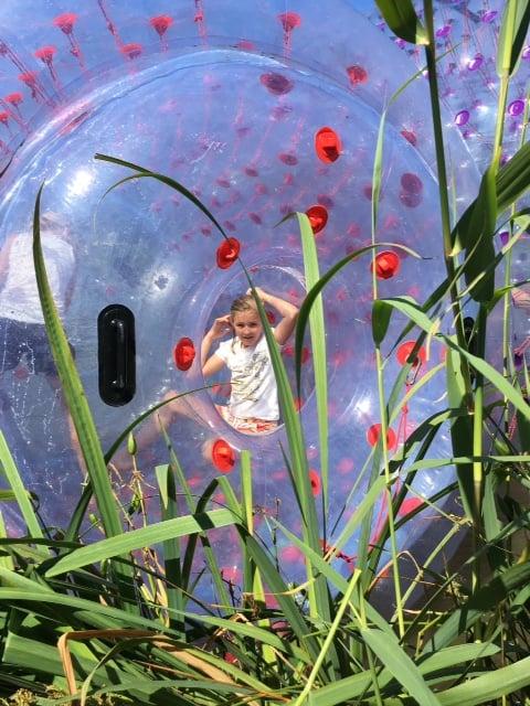 Aqua bubbels op de speelvijver