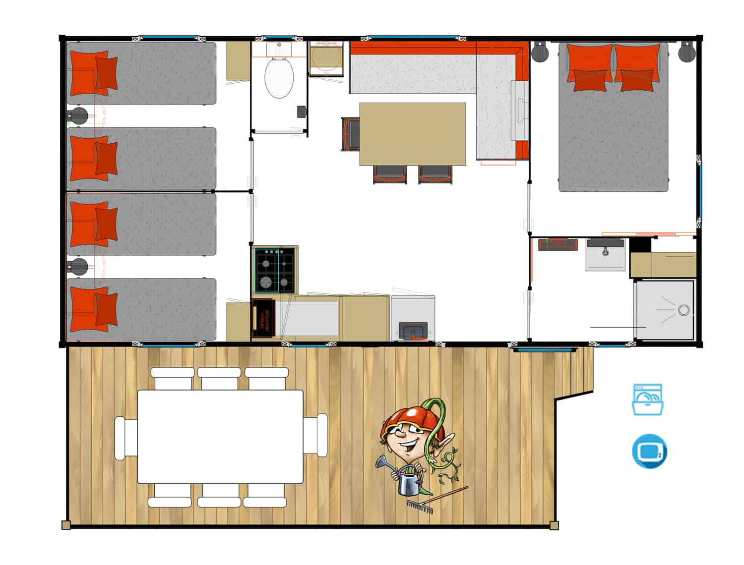 Capfun lodge resort plattegrond