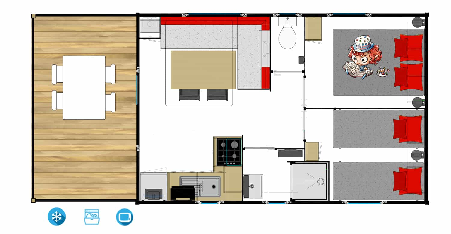 Lodge Kim plattegrond