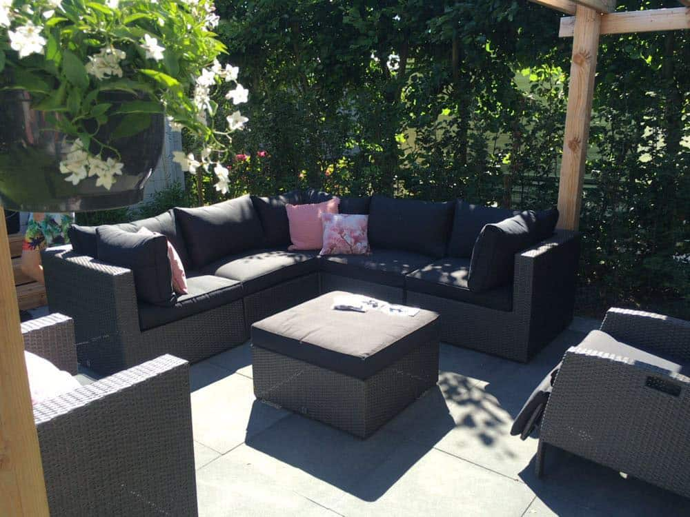 XL Luxe Lodge eettafel tuin zitje